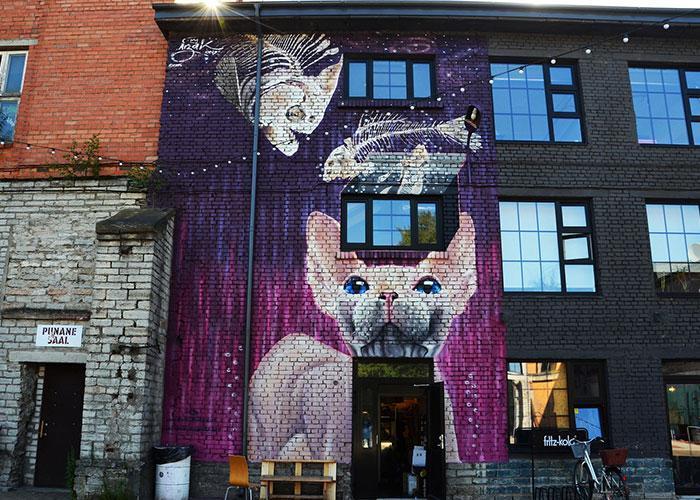 Модный квартал Теллискиви - огромное арт пространство