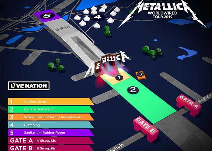 Концерт Металлики в Тарту: план площадки