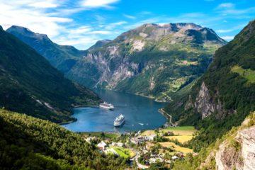 Норвегия Нерей-фьорд