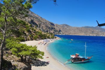Греция пляж побережье
