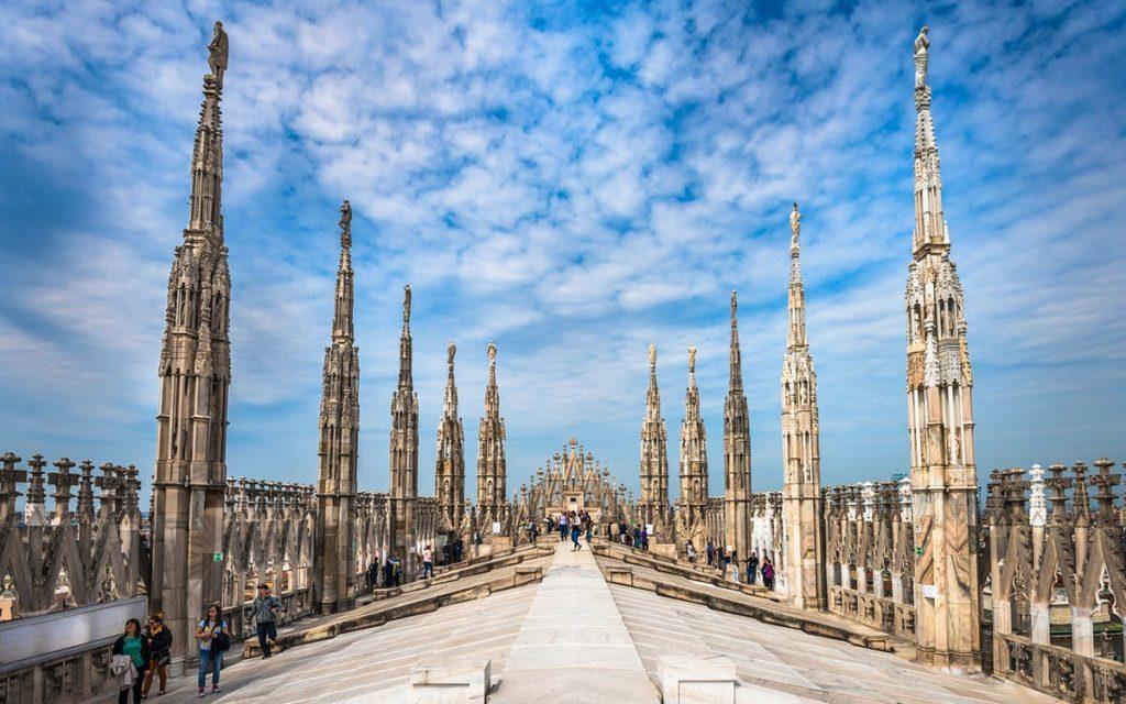 крыша собора Дуомо Милан