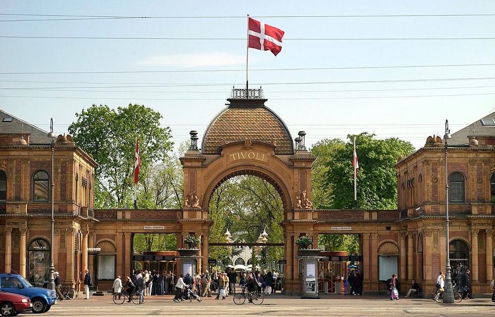 парк аттракционов Тиволи Копенгаген
