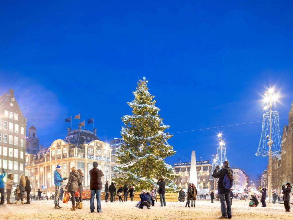 елка в Амстердаме